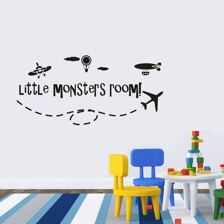 Little monsters room! Little monsters room! Passa på och fynda detta unika barn väggdekor och ge väggarna ett helt nytt lyster!  Länk till produkt: http://www.feelhome.se/produkt/little-monsters-room/   #Homedecoration #art #interior #design #Walldecor #väggdekor #interiordesign #Vardagsrum #Modernt #vägg #inredning #inredningstips #heminredning #citat #monster #barn #barnrum #barninredning #flygplan