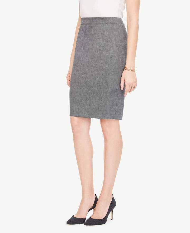 Ann Taylor Sharkskin Pencil Skirt