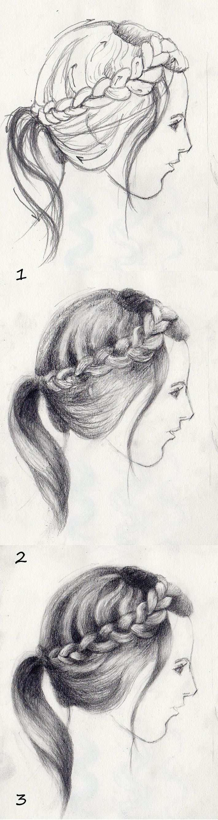 Drawing Hair In Steps_how To Draw Braids Sm