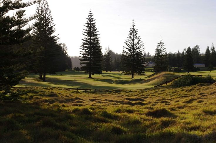 Strong Southerly: Norfolk Island golf course