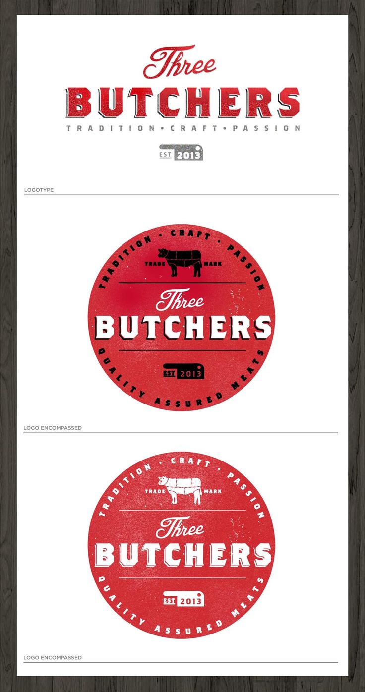 Stewdeane created this logo for Three Butchers - an online butcher shop