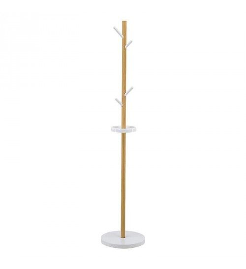 WOODEN COAT HANGER IN WHITE-NATURAL COLOR 35X35X175