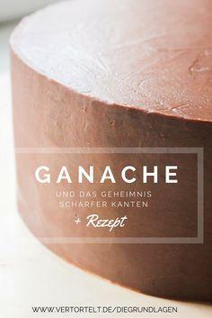 So bekommst du garantiert scharfe Kanten mit Ganache für deine Motivtorte + Rezept | www.vertortelt.de/diegrundlagen