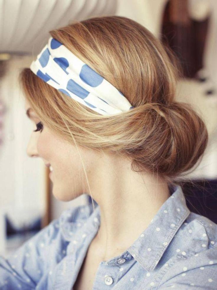 ber ideen zu frisuren mit haarband auf pinterest. Black Bedroom Furniture Sets. Home Design Ideas
