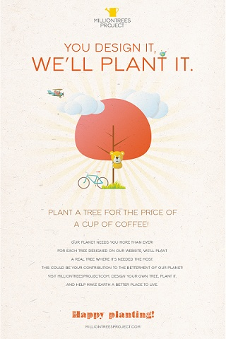 Plant a tree on Milliontreesproject.com!