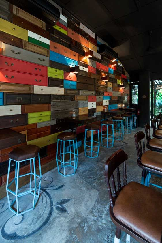 The Green Door Restaurant, Singapore designed by The Stripe Collective