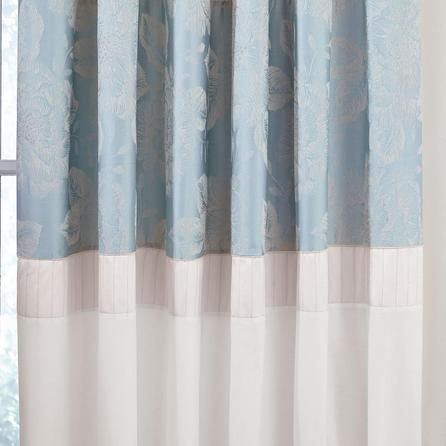 Dunelm Olivia Thermal Pencil Pleat Curtains in Duck Egg Blue (168cm x 182cm)