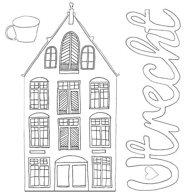 Sneakpeak van een deel van een pagina uit kleurboek voor volwassenen: Color the Hood. Heb je een idee waar dit gebouw staat laat een reactie achter! Part of à page from Color the Hood coloringbook #kleurboek#coloringbook#ColorTheHood#illustratie#tekening#draw#drawing#illustration#Utrecht#030#blackandwhite#addcolor#art#buurt#neighbourhood