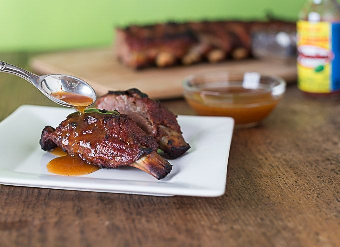 Spicy mango habanero rib sauce and marinade. | ethnicspoon.com