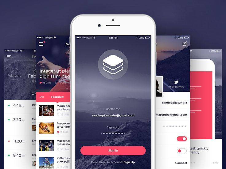 Clean & Modern iOS UI Kit #ios #ui #kit