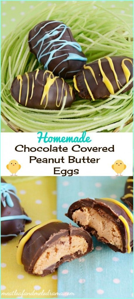 Homemade chocolate covered peanut butter eggs are fun to make and perfect for Easter treats!