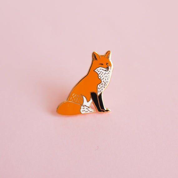 SECONDS SALE Sleepy Fox Enamel Pin