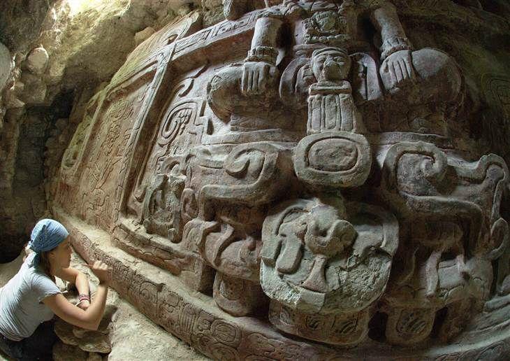 Inside a Maya pyramid, mysterious carvings hint at superpower struggle   Image: Anya Shetler