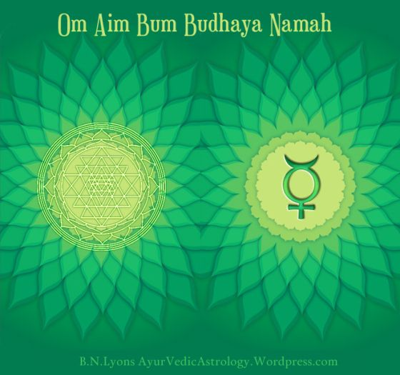 """I made this Mercury """"Budha"""" Mantra and Yantra to use as part of a set of measures to augment a Vedic Astrology chart."""