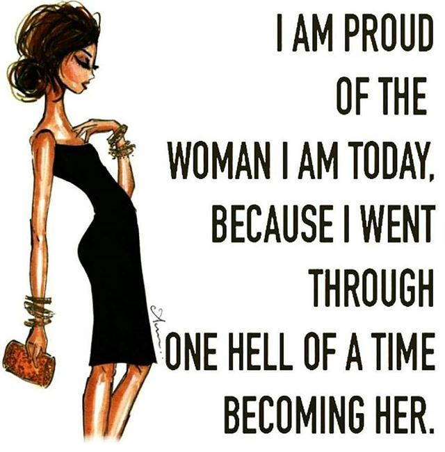 The woman I am today is still a work in progress but I'm proud of what I have become!! A mother A friend A lover A fighter and most of all a survivor ✊ #WCW #JUSTME #STORMY