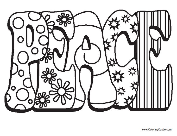 coloring pages peace love - photo#33