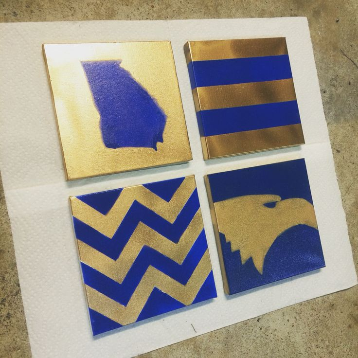 DIY canvas art. Georgia Southern University.