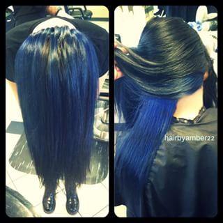 peekaboo blue hair - Google Search