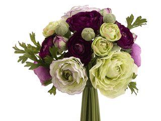 "9"" Small Ranunculus Clutch Bouquet in Purple Green (Flower girls)??  $10.99"