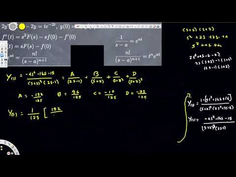 Initial Value Problems with Laplace Transforms - Differential Equations