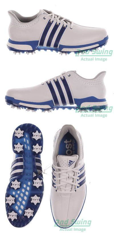Golf Shoes 181136: New Mens Golf Shoe Adidas Tour 360 Boost Medium 9.5 White Blue Msrp $200 -> BUY IT NOW ONLY: $124.99 on eBay!