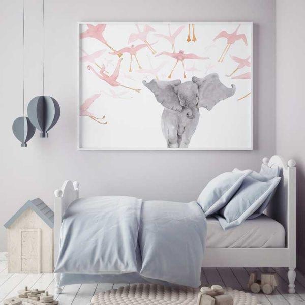 Elefanten och flamingorna