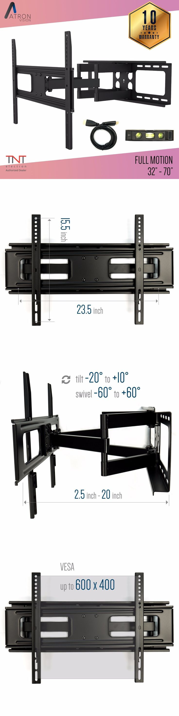 TV Mounts and Brackets: Dual Arm Full Motion Tilt Lcd Led Tv Wall Mount Bracket 42 46 50 55 60 65 70 -> BUY IT NOW ONLY: $67.99 on eBay!