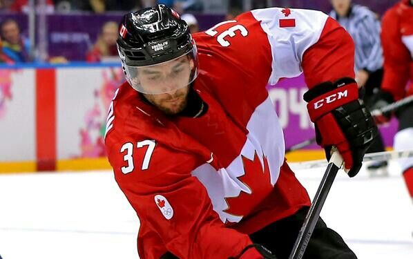 2/21/14 Congrats to Patrice Bergeron & Team Canada for advancing to the Gold medal round at the Sochi Olympics.