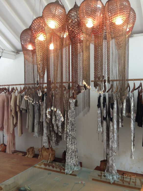 chainmail lighting--draping repetition perfect companion fir hanging clothes