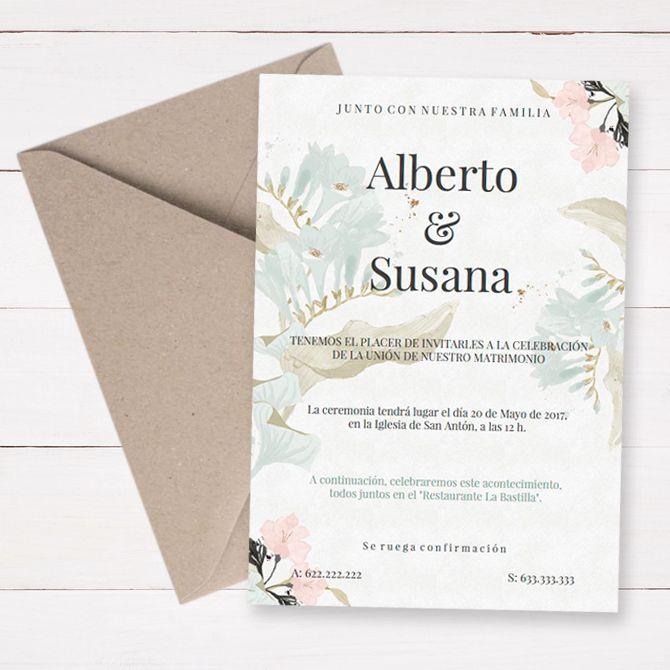 Las 25 mejores ideas sobre invitaciones de boda - Como hacer tarjetas de boda ...