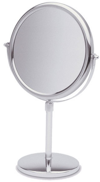 5 times magnification Chrome vanity mirror.