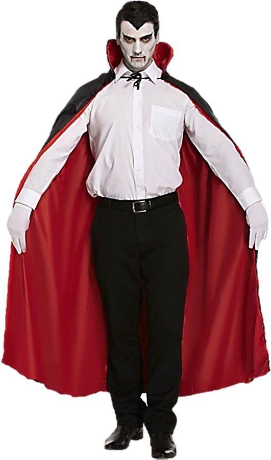 cb849b6cec7 Dracula vampire cape halloween black red REVERSIBLE 5026619097274 ...