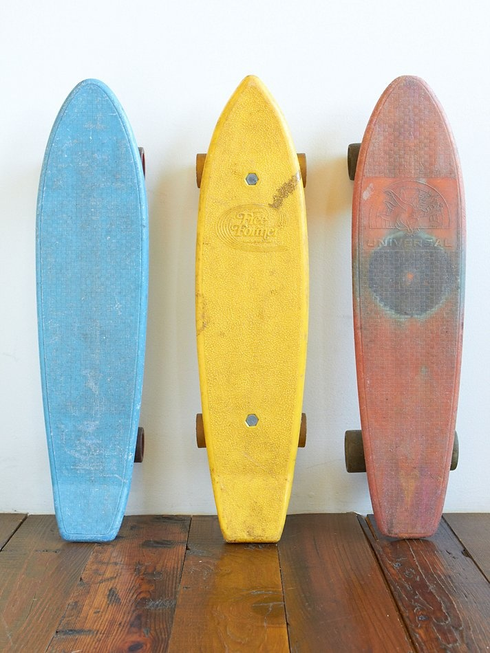 Skateboards from the 70's. I had the yellow one. Walked all the way to Community with my BFF to buy it.