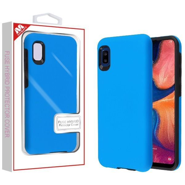 Samsung Galaxy A10e Rubberized Dark Blue Black Fuse Hybrid Protector Cover With Package Samsung Galaxy Samsung Galaxy
