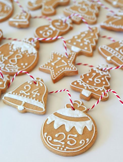 Advent Calendar Cookies! -  Adventskalender av pepparkakor!