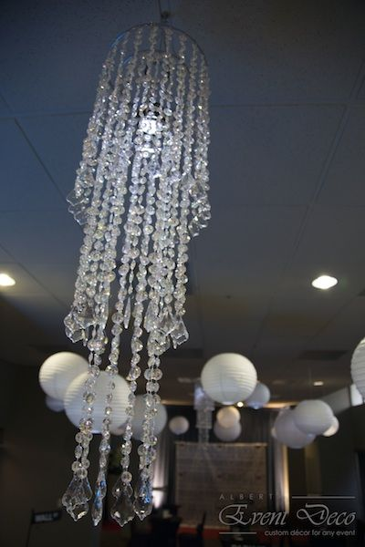 Chandeliers with LED Lights - Wedding Reception @ Hotel Arts, Calgary, AB