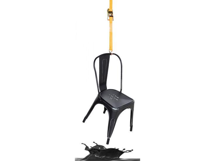 Floby stol svart plåt