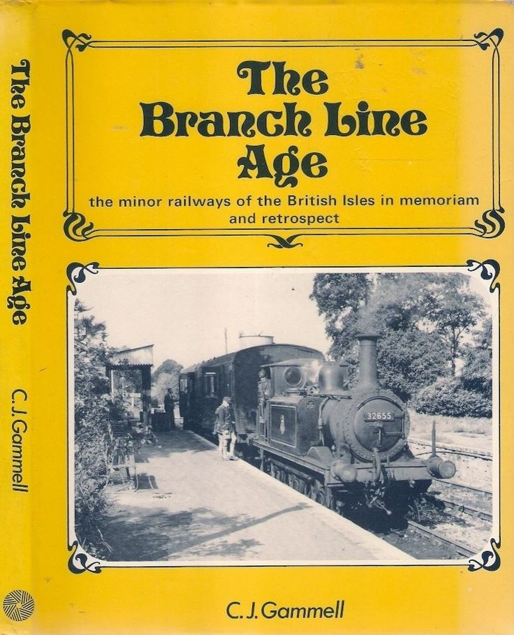 BRANCH LINE AGE. The rural branch-line railway is now a thing of the past. From the 1930s the minor railways of Britain declined in use, until economic necessity finally caused their closure in the early sixties. Here captured is a view of branch-line life from its heyday, through declining years, to closure and final abandonment. Pictures of stations as they disappear, turn into houses or become gardens.