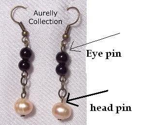 Tutorial Membuat Perhiasan Manik Manik: [Tutorial] Cara Penggunaan Eye Pin dan Head Pin