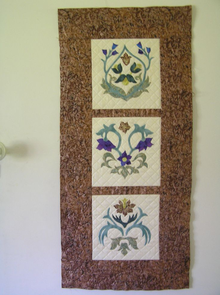 Miniature Sampler - a pattern by Michele Hill from the book William Morris in Applique