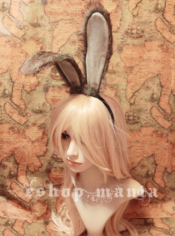 20 cm BUNNY Rabbit Ears Headband wire inside by eshopmania on Etsy