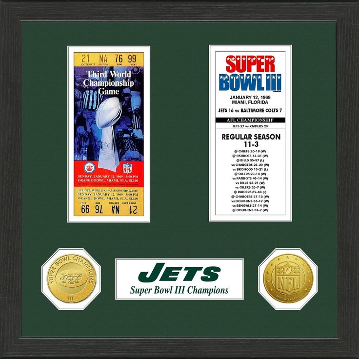 NFL New York Jets Super Bowl Championship Ticket Collection
