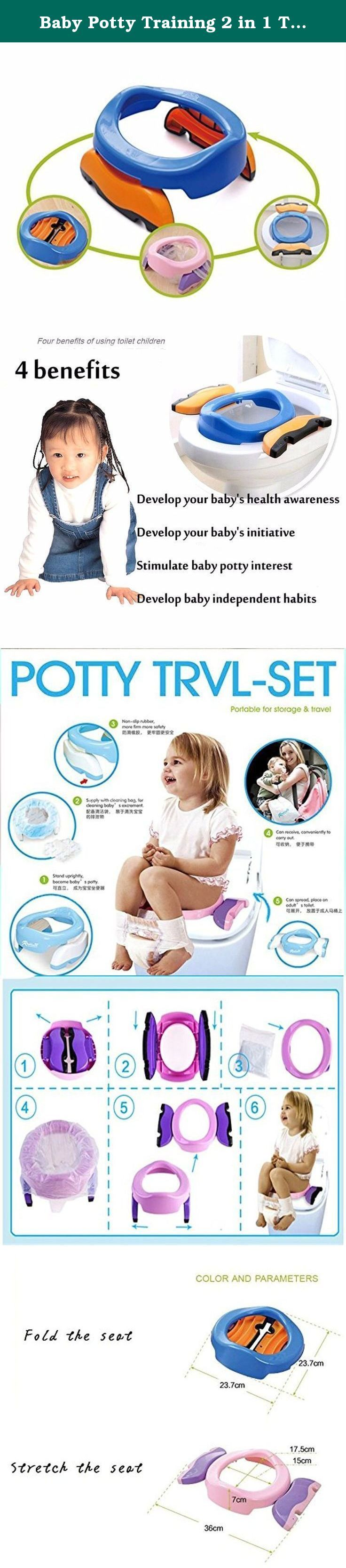Baby Potty Training 2 in 1 Toilet Training seat & Seat Cover Foldable Travel Potties Blue Color for Boy age 2 years and Up to 60lbs. Baby Potty Training 2 in 1 Toilet Training seat & Seat Cover Foldable Travel Potties Blue Color for Boy age 2 years and Up to 60lbs.