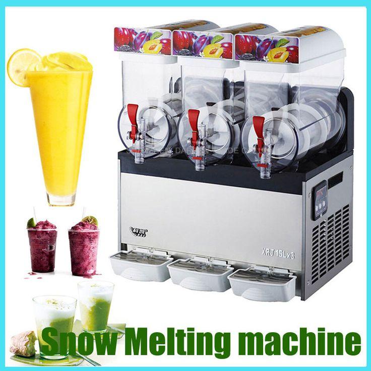 XRJ15X3 Snow Melting machine Three Tank Slush Smoothies Granita Machine Sand ice machine 110v or 220v #Affiliate