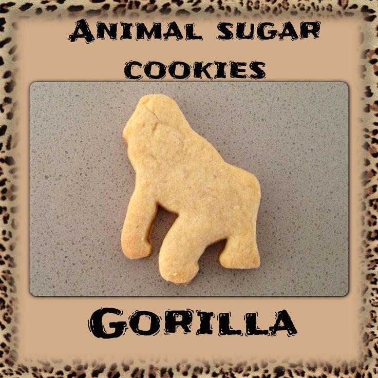 Animal Sugar Cookies Gorilla