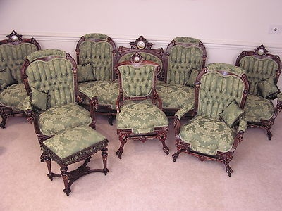 Adorable Victorian Pottier Stymus Rosewood Music Room Parlor Set | EBay