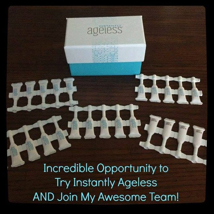 This is the opportunity you have been waiting for.....I have 25 samples of Instantly Ageless for those skeptics out there that don't believe it works.  Want to give it a try? Here is the deal.....if you do try it and it does work, then you have to join me in my business.   Email me so I can coordinate getting you your sample vial. flawless4evermore@gmail.com   Put it to the test, I dare you!  P.S. If you haven't seen the video yet check out www.flawlessin2.info