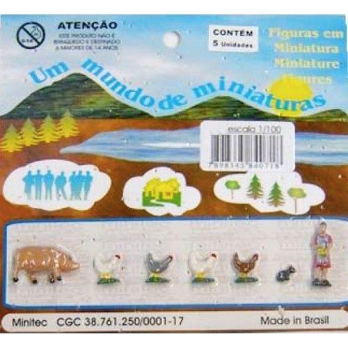 MINIATURA PARA MAQUETE ANIMAIS DO CAMPO 612 - ESCALA 1/100 MINITEC