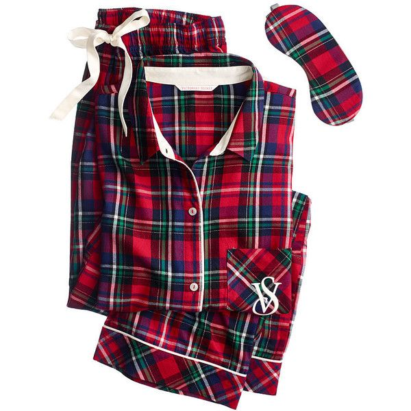 The Dreamer Flannel Pajama ($39) ❤ liked on Polyvore featuring intimates, sleepwear, pajamas, pijamas, victoria secret pajamas, flannel pjs, victoria's secret, victoria secret sleepwear and flannel pajamas