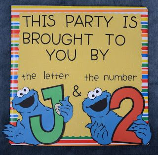 cookie monster party idea